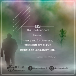 God is merciful and forgiving