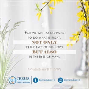 Taking pains to do what is right