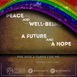 Peace and Well-being, a future and a hope