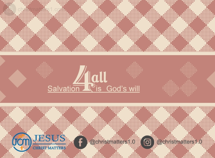 Salvation for all is God's will